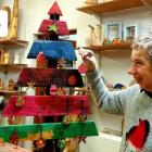 Alison decorating the Christmas tree